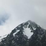 Na moment chmury ods³oni³y szczyt Lomnicy (2634 m n.p.m.) - drugi w Tatrach pod wzglêdem wyskoœci.