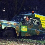 Wielka Sobota 1999 - przeprawa przez rzekê Wierzycê.