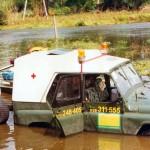 Wroc³aw, lipiec '97, rozlewiska rzeki O³awy.