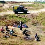 Biwak w terenie (przygotowania do rajdu -wiosna 1999)