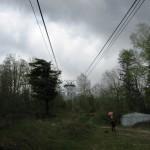 Stara linia kolejki linowej na  Lomnice.